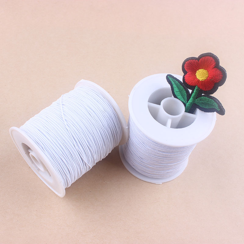 0 8mm 1roll Elasticity Thread Crystal Beading Line 2 Colors Stretch Elastic Rope Cord Wire String Jewelry Findings Bracelet Z1 in Thread from Home Garden