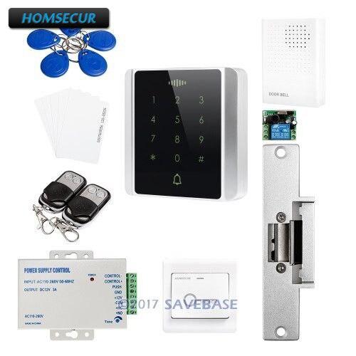Système de contrôle d'accès en métal HOMSECUR avec lecteur RFID 125 Khz + verrouillage sans gâche pour Usage extérieur et intérieur
