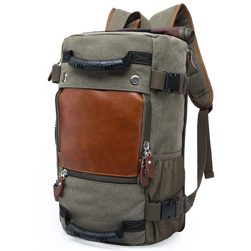 KAKA Brand Stylish Travel Bag Backpack Large Capacity Male Luggage backpack Vintage Canvas Shoulder Bag Computer Laptop Backpack large capacity men canvas backpack mochila laptop backpack mountaineering versatile bag travel luggage bag