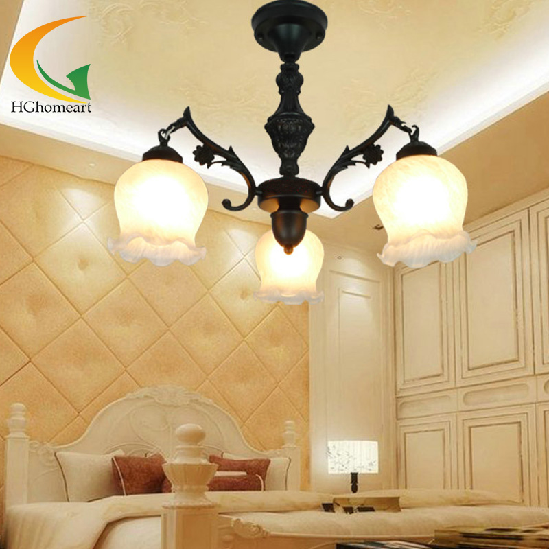 retro ceiling lights Continental Iron chandelier restaurant lamps bedroom lighting fixtures living room retro lights multiple chandelier lights blue iron candle lamps bedroom lamps rustic lighting 3 heads hotel lighting lamps