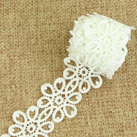 5pcs Of 3 Yard 1 Pc Costume Decor Trimming Embroidery Sew DIY Craft Off White Lace