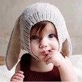 Los nuevos hombres y mujeres bebé orejas de conejo del sombrero de los niños sombrero de lana de punto lindo de invierno capó caliente