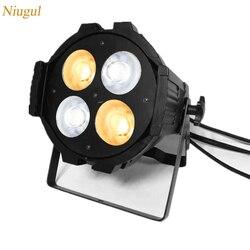 200W COB LED lampa PAR reflektor/ciepły biały + zimny biały miejscu lampa projekcyjna/4x50 W dźwięku /Auto/DMX512 COB LED oświetlenie sceniczne w Oświetlenie sceniczne od Lampy i oświetlenie na