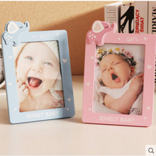 Baby photo frame Solid wood cartoon creative Kids children's lovely photo frame set up 6/7 inch
