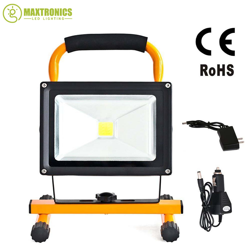 20w rechargeable led flood lighting rechargeable Led emergency lamp Portable Spotlight battery powered led spot lamp