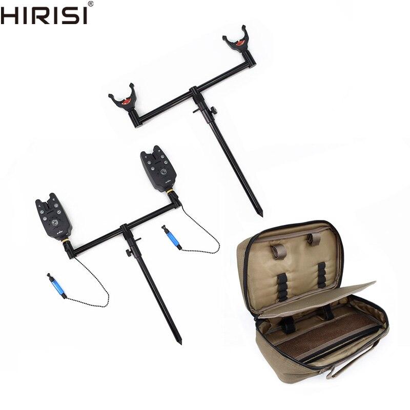 Carpa borsa kit set con supporto del supporto canna da pesca pod buzz bar banca bastoni pesca scambisti pesca bite allarmi set