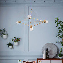 Nordic Chandelier Iron Cafe Living Room Large Chandelier Lighting Lustre Pendente Dining Room Decor Light Fixtures Chandeliers vintage american chandeliers living room light fixtures copper wrought iron white fabric lampshade chandelier lustre 110 240v
