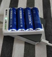 NEW 4pcs JUGEE 1.5 v 3000mWh AA Li polymer Li ion lithium polymer rechargeable batteries + charger