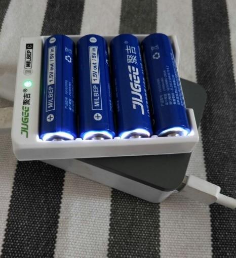 NOUVEAU 4 pièces JUGEE 1.5 v 3000mWh AA li-polymère li-ion lithium polymère rechargeable batteries + chargeur