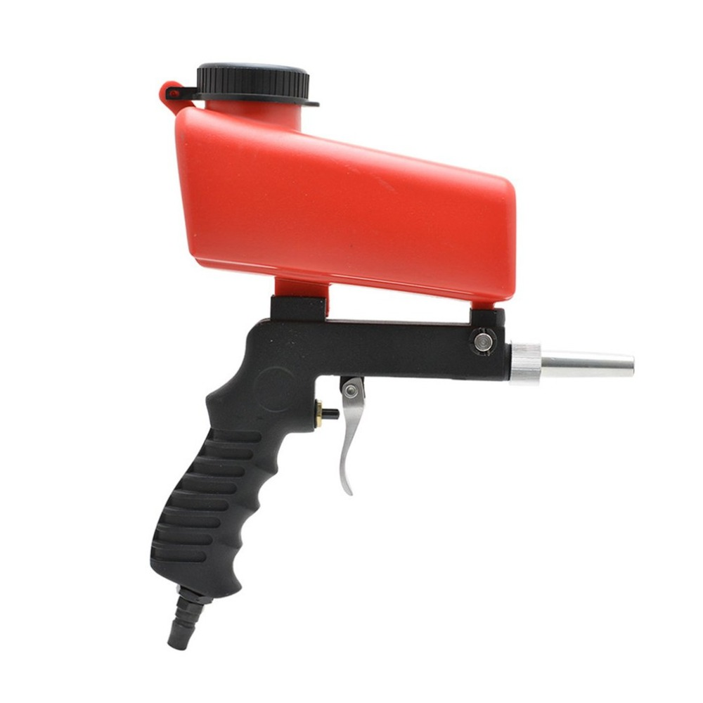 Gravity Feed Portable Air Sandblast Sand Spray Gun Car Rust Remove Sandblaster Air Tools Car Paint Rust Removal Tool ...