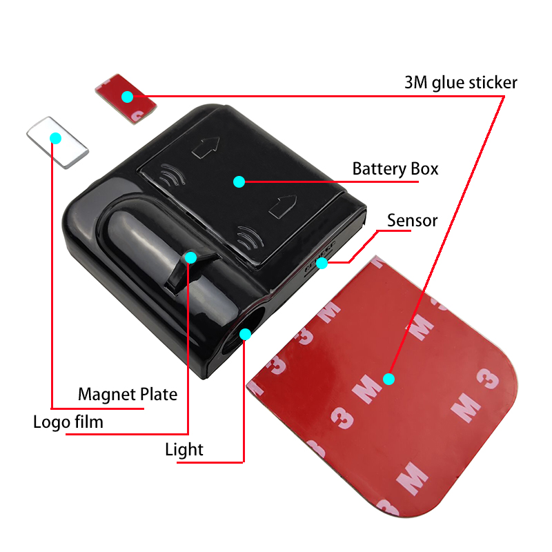 1PC Universal Wireless Car Door Welcome Logo Light Projector LED Laser Lamp