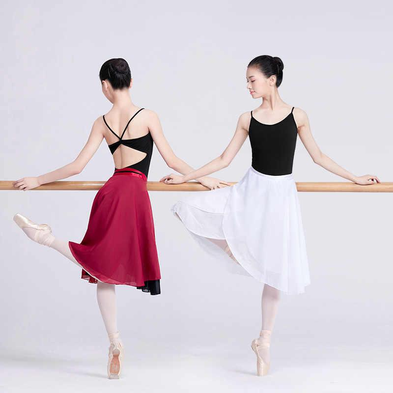 Длинный широкий шарф балетная юбка женская лирическая шифоновая балетная юбка 2 слоя юбки для танцев