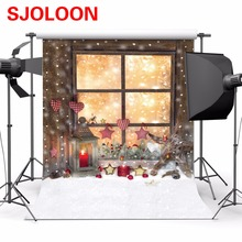 Рождественский фон для фотосъемки 150x210 см фон для рождественской фотосъемки фон для фотосъемки Рождественский фон для студийной фотосъемки винил