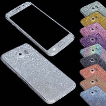 For Sumsung Galaxy S6 S6edge Luxury Bling Full Body Decal Glitter Back Film Sticker Case Cover for S6 G9200 Free Shipping(China)
