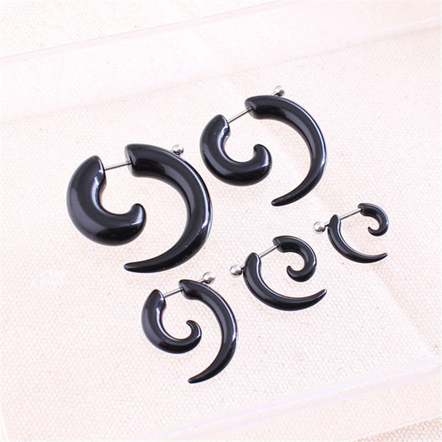 2X Hot Cool Hip-Hop Punk Expansion Earrings7