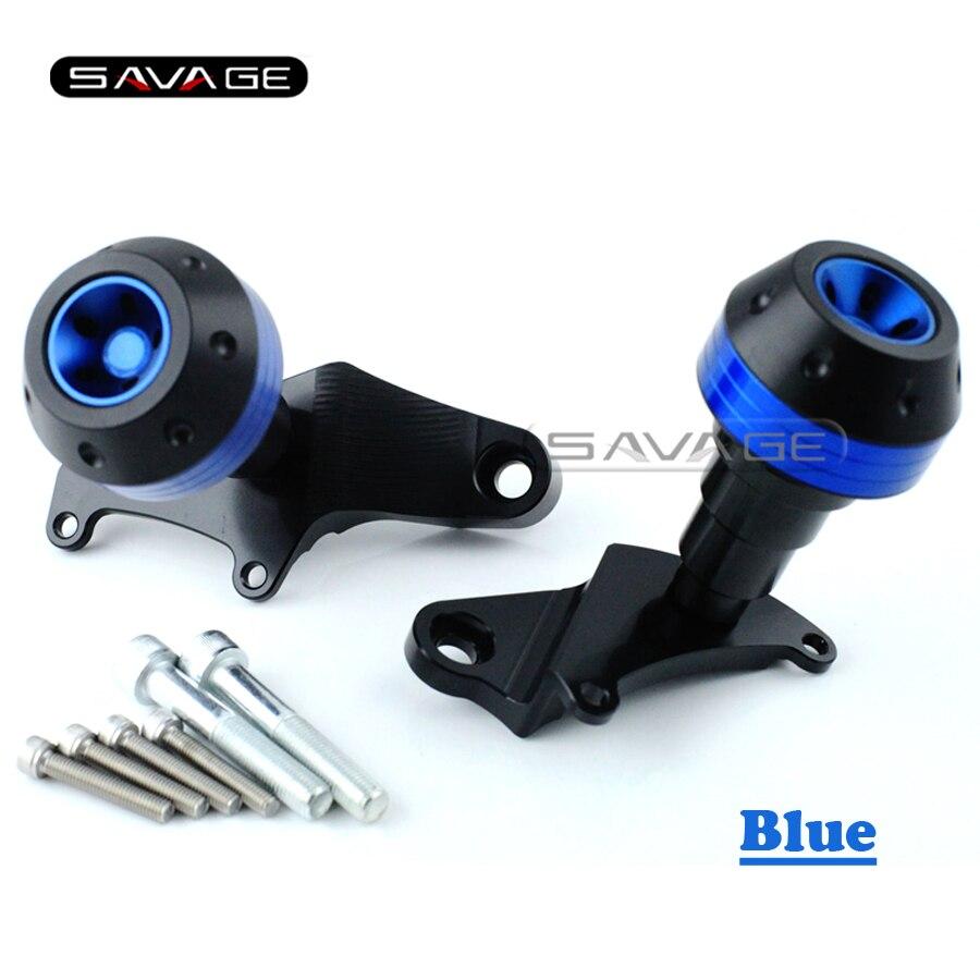 For HONDA CBR 500R CBR500R 2013 2014 2015 Blue Motorcycle Frame Slider Crash Protector Bobbins Falling Protection