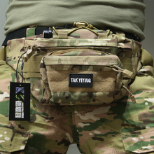 TAK YIYING Molle Tactical Waist Belt Bag Waist Pack Pouch Military Outdoor Camping Hiking Running Sports Bag