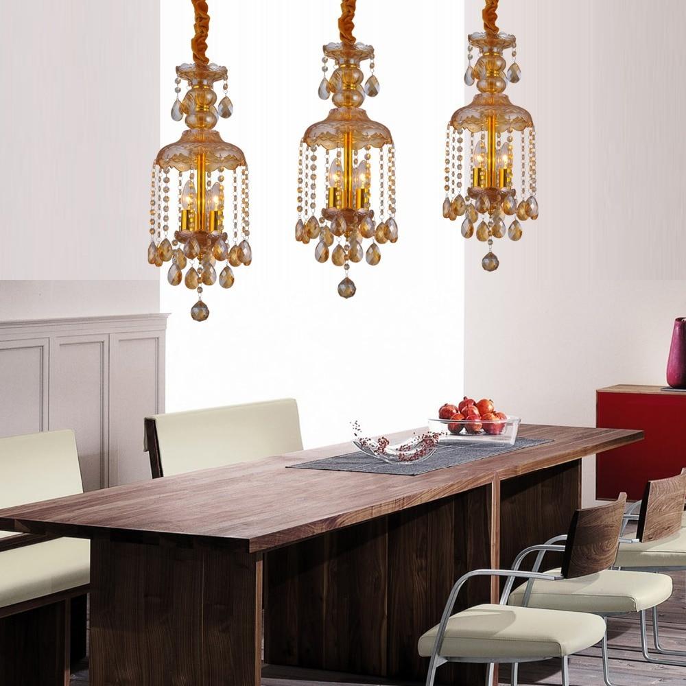 New Chrismas crystal LED pendant light for dining room decorating ...
