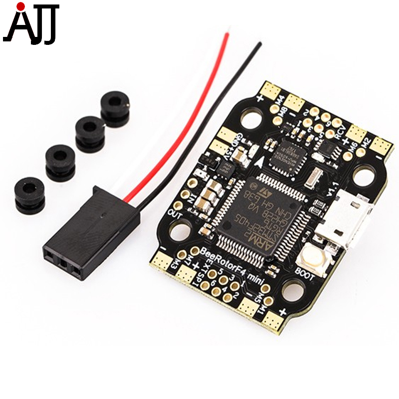 BeeRotor Mini F4 Flight Controller with BFOSD PDB BEC Version MiniF4 For DIY FPV Racing Quadcopter Drone 220mm high speed 3k carbon fiber 220x qav r qav220 mini fpv rc racing drone quadcopter with f4 flight controller