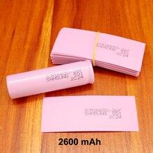 100pcs/lot Lithium Battery Skin Pvc Plastic Jacket 18650 Heat Shrinkable Tube Shrink Film 2600mah