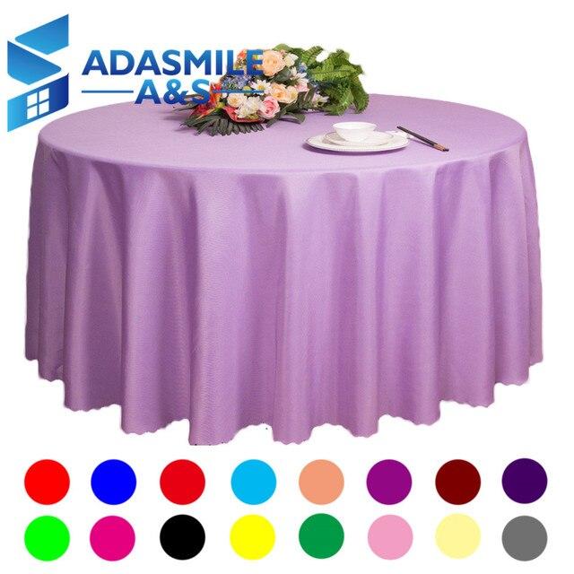 Wedding Tablecloths Wholesale | Adasmile Wholesale Big Size Polyester Round Table Cloth Wedding