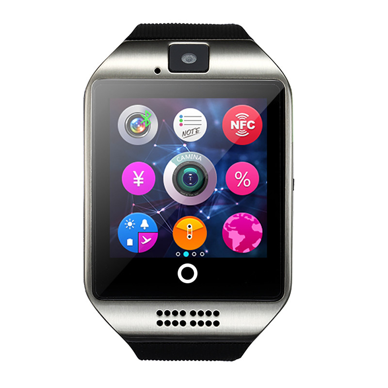 Fashion Smart Watch Clock With Sim Card Slot Push Message Bluetooth Connectivity Android Phone Better Than Q18 Smartwatch new arrive gt08 smart watch bluetooth sim card slot push message bluetooth connectivity nfc for iphone android phoones