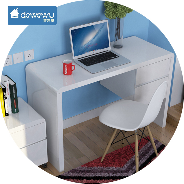 White Piano Paint Computer Desk Desk Ikea Modern Minimalist Small Apartment  Home Desktop Desk Desk