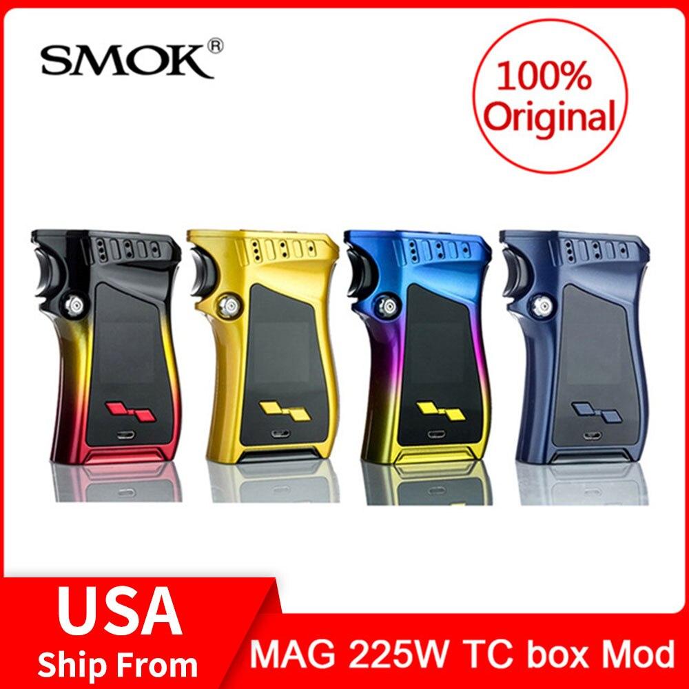 Original SMOK MAG 225 W TC Mod box 225 w sortie VW/TC et Mode mémoire pistolet-poignée électronique cigarette Vape Mod Box