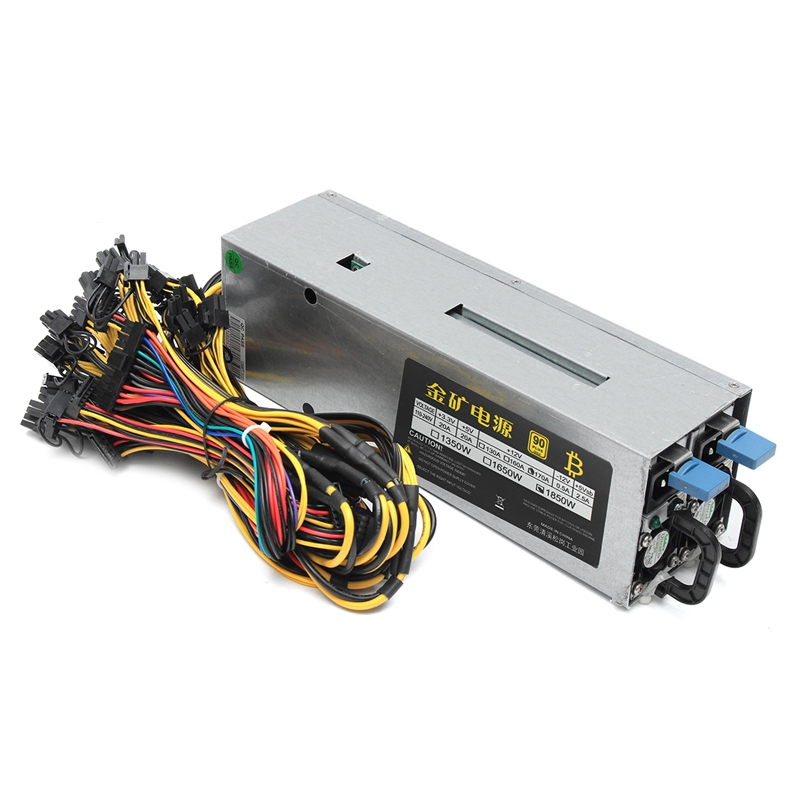 1800W 95% 90Plus Gold Miner Mining Power Supply ATX For 6 GPU ETH BTC Ethereum New Computer power Supply For BTC new original gold power 1800w ethereum eth power supply for r9 380 rx 470 rx480 6 gpu cards 6 months warranty free shipping