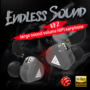 Image 5 - New QKZ VK2 2DD In Ear Earphone HIFI DJ Monito Running Sport Earphone Hybrid Headset Bass Earbuds With Mic Replaced Cable