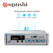 Oupushi 40W small bluetooth amplifer speaker 100V home audio power amplifiers for home background music system