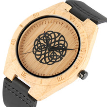 Tops Wooden Watches Unique Irregular Lines Wooden Quartz Wristwatches Men and Women Relojes Hombre Real Leather Clock 2017 Gifts