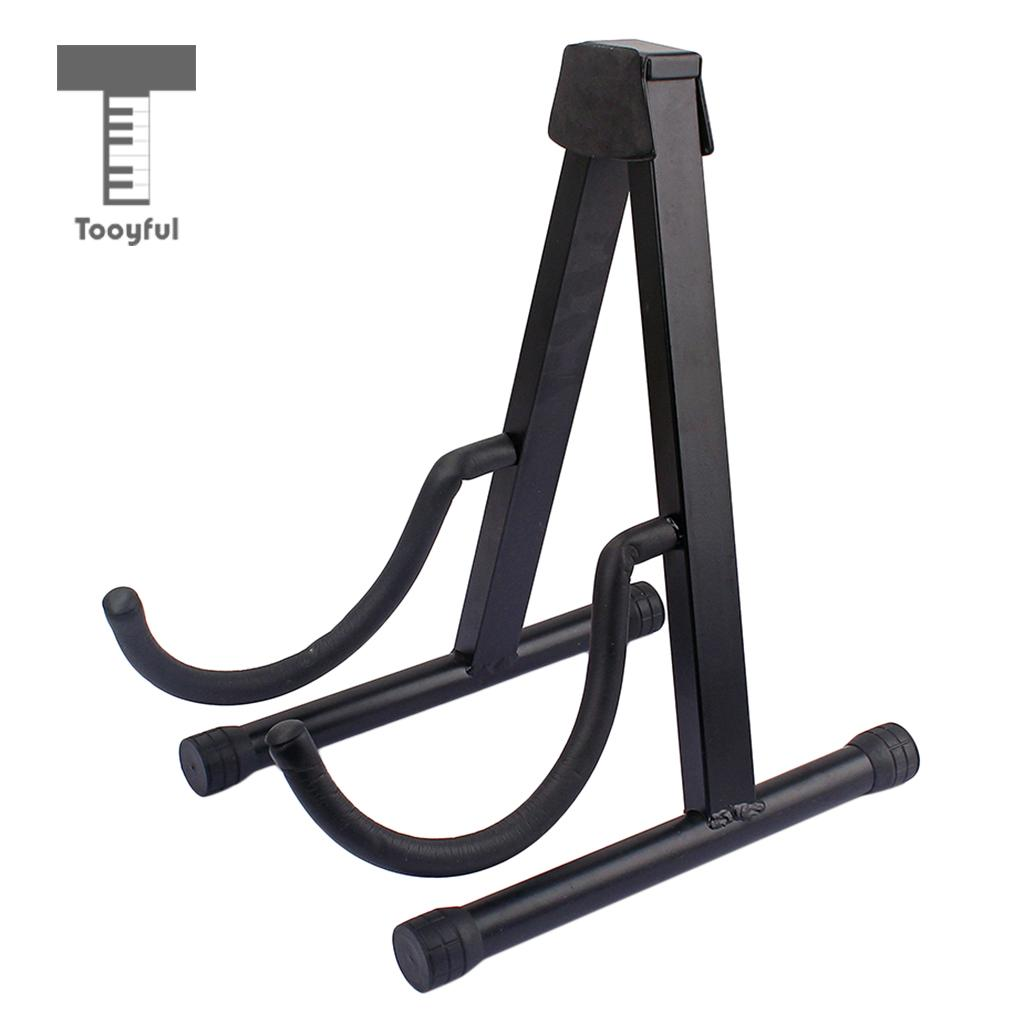 Tooyful Folding A Frame Guitar Stand Holder Bracket for Acoustic Electric Guitar Bass Mandolin Ukulele folding a frame electric guitar floor stand holder acoustic guitar electric guitar bass floor rack holder promotion
