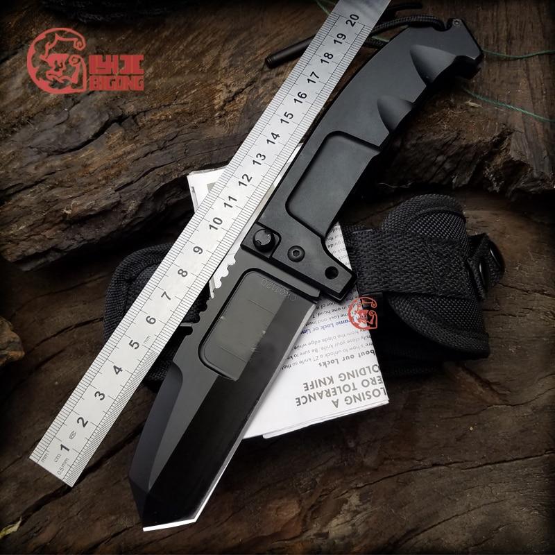 BIGONG Folding Knife 440C Cold Steel  T6 Aluminum Handle  Extrema Ratio Survival Knife