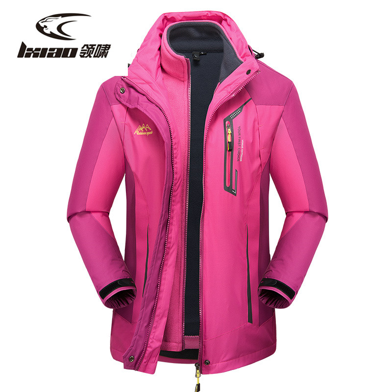 wolfonroad women 2 piece jackets waterproof outdoor sport thermal jacket coat winter hiking camping windbreaker mountain jackets LXIAO Windbreaker Hiking Jackets Waterproof Warm Winter Outdoor Sport Women Jacket Thermal Windproof Hiking Camping Womens Coat