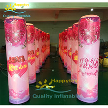 2018 Most popular inflatable light pillar party Decoration Custom Giant LED Inflatable Column/ Inflatable Pillar With Led Light(China)