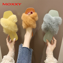 Fur Slippers Women Slides Home Furry Flat House Indoor Female Cute Fluffy Shoes Woman zapatos de mujer