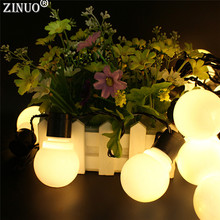 5CM Big Ball Led String Light Fairy Garland Outdoor  2.5M 5M 10M Starry LED Christmas 110V 220V Wedding