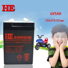 HE 6V 5AH Rechargeable Lead Acid Battery Storage AGM Electric Toy Car 70X47X101mm Replace 4AH 4.5AH