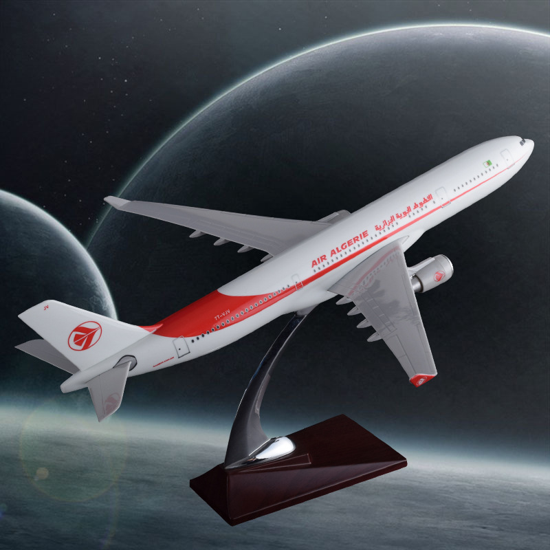 40cm Resin A330 Airbus Model Algeria Airlines Airways Air Algeria International Aviation Aircraft Model Creative Travel Souvenir new phoenix 11207 b777 300er pk gii 1 400 skyteam aviation indonesia commercial jetliners plane model hobby