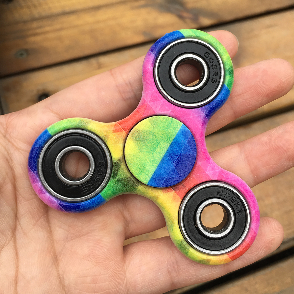 Rainbow Fidget Spinner ABS Tri-Spinner EDC Hand Finger Spinner for Autism and ADHD Focus Anxiety Relief Stress Gift Toys Kids pudcoco metal boys girls rainbow fidget hand finger spinner focus edc bearing stress toys kids adults