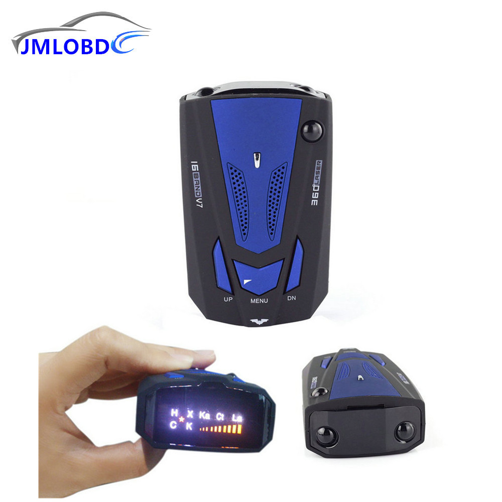 2018 New English Voice Anti Radar Detector 360 Degree V7 For Car Speed Limited Radar Detector car-styling,car-detector
