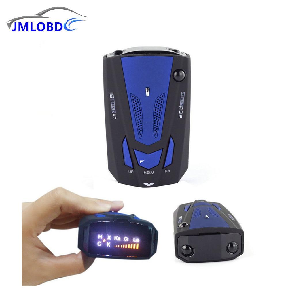 2018 New English Voice Anti Radar Detector 360 Degree V7 For Car Speed Limited Radar Detector car-styling,car-detector