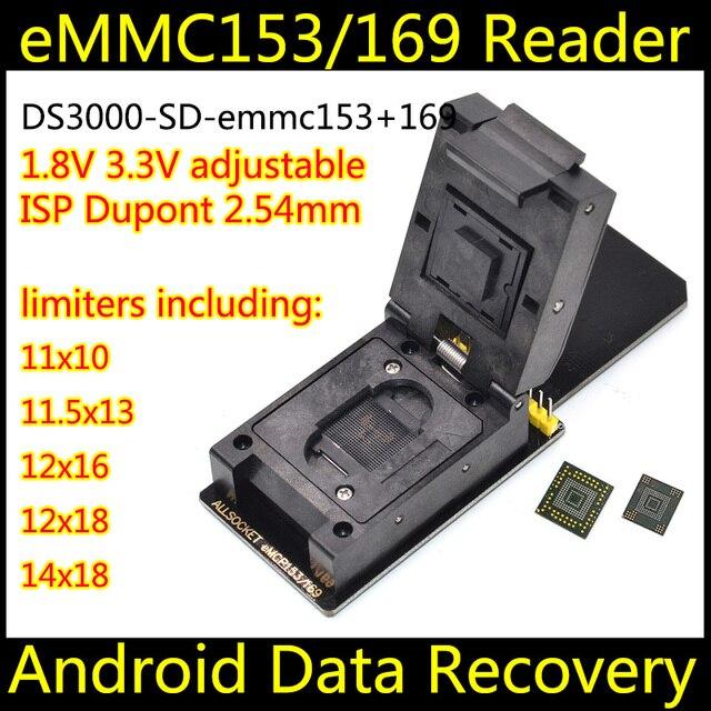 ALLSOCKET eMMC153/169-SD Adapter FBGA153 BGA169 for Samsung Toshiba Kingston Skhynix Sandisk NAND Flash Memory eMMC Programming