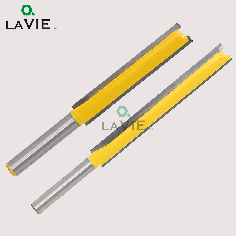 LA VIE Router Bit 1/4 Extension Long Straight Trimming Knife CNC Bit Milling Cutters for Wood Edge Cutting MC01002 1 2 5 8 round nose bit for wood slotting milling cutters woodworking router bits