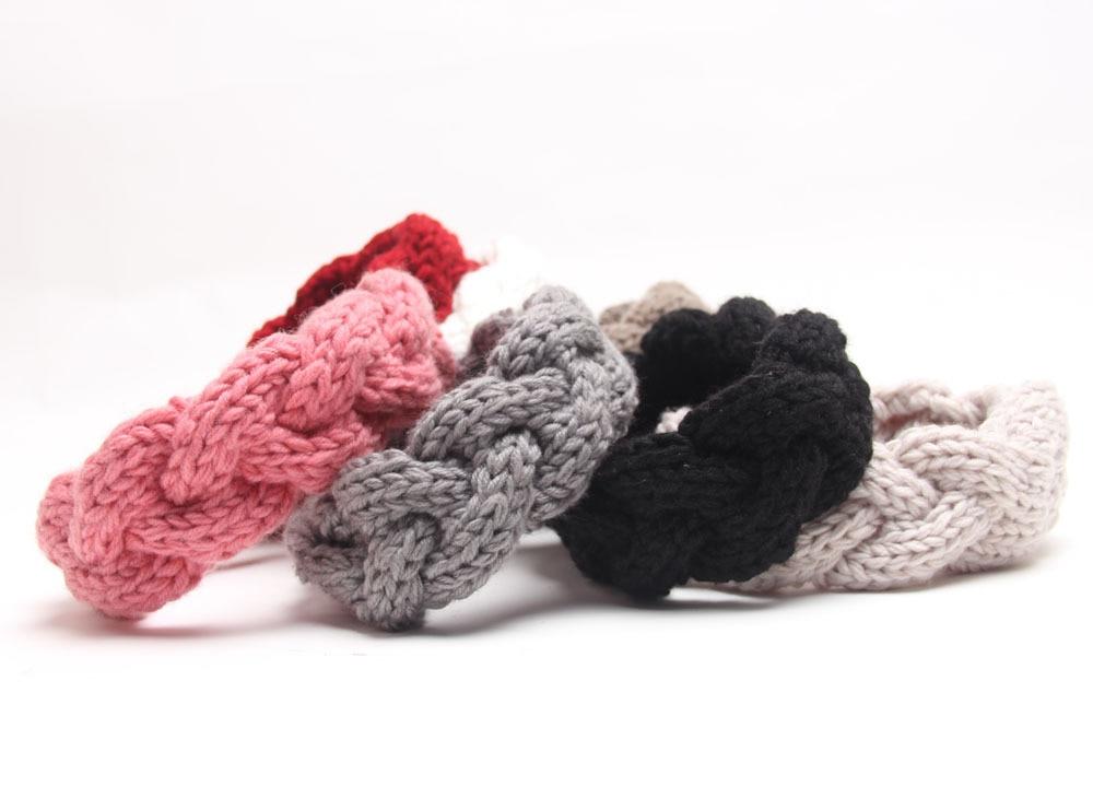 Braided Knitted Headband Knit Hair Band Turban Headband Knitted Ear