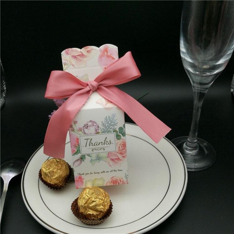 2019 offre spéciale mariage faveur boîte et sacs doux cadeau bonbons boîtes pour mariage bébé douche chocolat boîte de mariage fête cadeau boîte