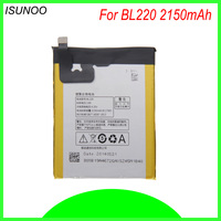 ISUNOO 2150 mAh bateria para Lenovo S850 S850T BL-220 Orginal telefone celular BL220 bateria Embutida com ferramentas de reparo livre