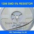 Frete grátis 1000 pcs 1206 SMD 5% Resistor 0R 1R ~ 10 M para Sua Escolha (você pode escolher 10 valores cada valor de 100 pcs)