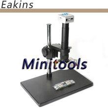 Best price 16MP Full HD 1080P 60FPS HDMI USB 300X/180X Lens Industrial Digital Microscope Video Camera+big boom table +56 Led ligths